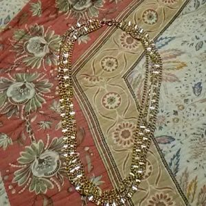 Sarah Coventry multi-strand gold necklace